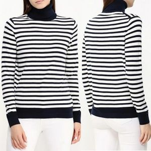 TOMMY HILFIGER - cotton striped turtleneck sweater